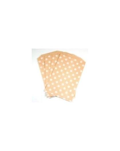 8 Bolsas de papel kraft topos