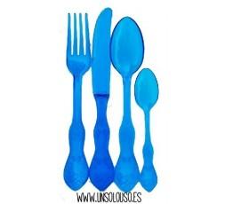 10 Cubiertos Barrocos Azul