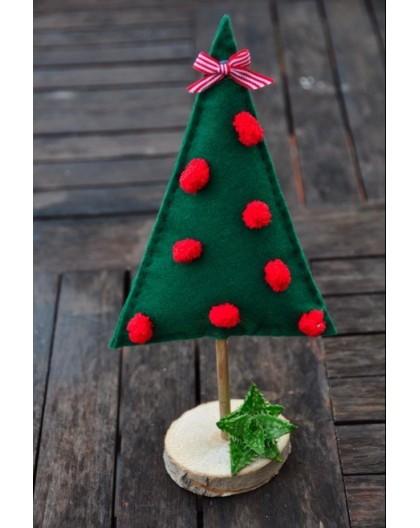 Arbolito de Navidad de fieltro