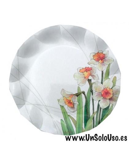 8 Platos desechables Narcisos