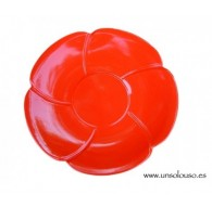 platos flor rojo 1