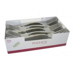 10 Tenedores de plastico plata