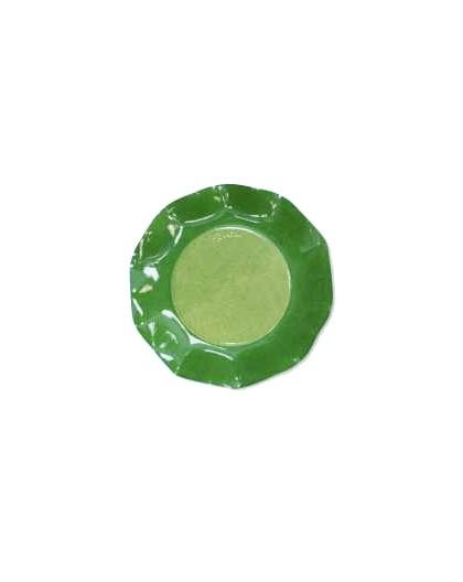 8 Platos Verdes Bicolor