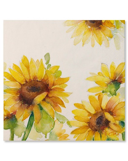 Servilletas papel Girasoles
