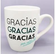 """Taza """"Gracias por estar ahí"""""""