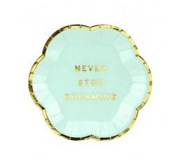 6 Platos pequeños Mint y dorado