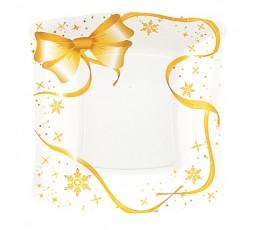 10 Platos Lazos dorados