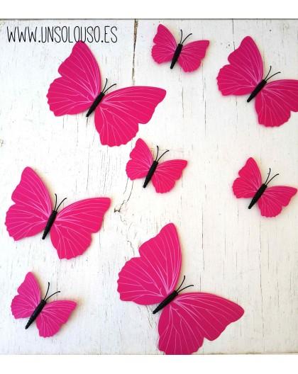 Set de 12 mariposas adhesivas