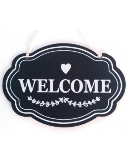 Cartel colgante Welcome