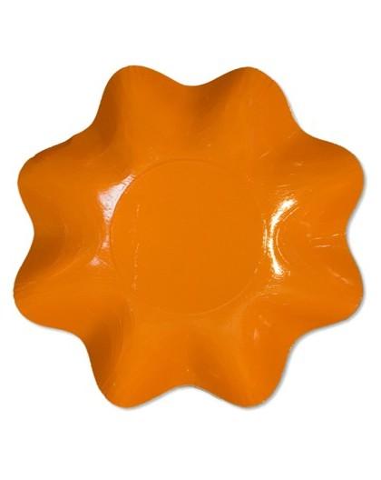 Ensaladera de carton naranja