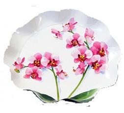 banDEJA REDONDA GRANDE orquideas