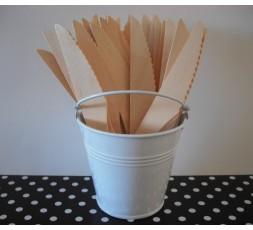 10 Cuchillos desechables madera