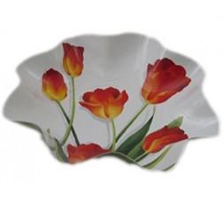 ensaladera tulipanes