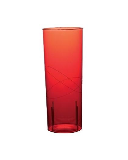 vasos de tubo rojo