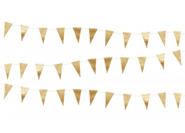 Guirnaldas y banderines de fiesta