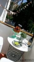 Fiesta de cumpleaños en el balcón