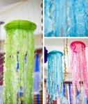 Hacer medusas de papel para colgar